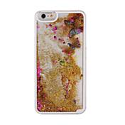 transparente arenas movedizas líquido mariposa brillante dinámica detrás encajona la cubierta para el iphone 6 más / 6s más (colores