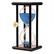 Reloj de Arena Juguetes Juguetes Rectangular Reloj de Arena Madera Vidrio No Especificado Piezas