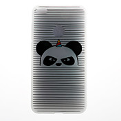 Caso para huawei p8 lite (2017) caso p10 caso rayado panda patrón 3d alivio leche tpu material caso de teléfono para huawei p10 lite p10