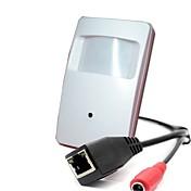 hqcam® 720p onvif 1.0mp 25fps cámara IP de seguridad interior cctv mini pir estilo 3.7mm lente de vigilancia 1/4 h62 cmos