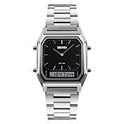 SKMEI 남성용 패션 시계 손목 시계 석영 스테인레스 스틸 밴드 실버