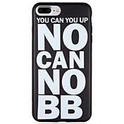 Funda Para Apple iPhone 7 Plus iPhone 7 Congelada Diseños Funda Trasera Palabra / Frase Suave TPU para iPhone 7 Plus iPhone 7 iPhone 6s