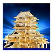 Puzzles 3D Puzzles de Metal Juguetes de construcción Edificio Famoso Arquitectura 3D Manualidades Metal Cumpleaños 6 años de edad en