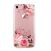 Para iPhone X iPhone 8 Carcasa Funda Ultrafina Transparente Diseños Cubierta Trasera Funda Flor Suave TPU para Apple iPhone X iPhone 8