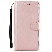 Etui Til Samsung Galaxy A5(2017) A3(2017) Kortholder Lommebok med stativ Flipp Heldekkende etui Helfarge Hard PU Leather til A3 (2017) A5