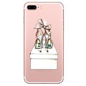 Para iPhone X iPhone 8 Carcasa Funda Transparente Diseños Cubierta Trasera Funda Chica Sexy Suave TPU para Apple iPhone X iPhone 8 Plus