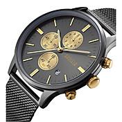 Hombre Reloj creativo único Reloj de Pulsera Reloj de Moda Reloj Casual Japonés Cuarzo Calendario Resistente al Agua Esfera Grande Acero