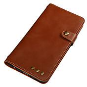Etui Til Huawei Kortholder Lommebok Flipp Magnetisk Heldekkende etui Helfarge Hard PU Leather til Huawei Y6 II / Honor Holly 3 Huawei Y5