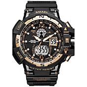 SMAEL Herre Digital Watch Moteklokke Sportsklokke Japansk Quartz Digital Kronograf Vannavvisende Selvlysende Stoppeklokke Støtsikker PU