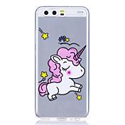 Caso para huawei p8 lite (2017) caso del p10 caso del unicornio alto transparente tpu material anti-rasca la caja del teléfono para huawei