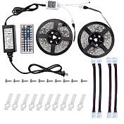 10 m Lyssett 600 LED 5050 SMD RGB Fjernkontroll / Kuttbar / Mulighet for demping 100-240 V / Koblingsbar / Selvklebende / Fargeskiftende / IP44