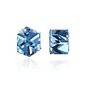 Dame Kubisk Zirkonium / Syntetisk Diamant Øredobber - Krystall, Zirkonium, Kubisk Zirkonium Personalisert, Mote Lilla / Lyseblå Til Daglig