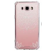 Etui Til Samsung Galaxy J7 (2017) J3 (2017) Gjennomsiktig Mønster Bakdeksel Blonde Print Myk TPU til J7 V J7 Perx J7 (2017) J7(2016) J7