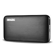 Waza 6000mah Power Bank Ekstern batterilader Hurtigladning for iPhone 8, X, Samsung Galaxy, etc