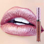 새로운 반짝이 입술 광택 메이크업 안료 골드 누드 인어 색상 립글로스 반짝임 금속 액체 립스틱 립글로스