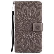 Etui Til Samsung Galaxy J7 (2017) J3 (2017) Kortholder Lommebok med stativ Flipp Mønster Heldekkende etui Mandala Hard PU Leather til J7