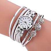 Mujer Cuarzo Simulado Diamante Reloj Reloj Pulsera Chino La imitación de diamante PU Banda Casual Bohemio Elegant Moda Negro Blanco Azul