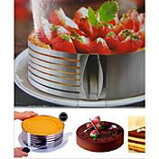 1 pedazo de la torta moldea el molde redondo de la torta de la herramienta de la hornada del acero inoxidable de la torta, herramienta de la hornada