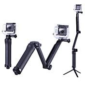 트리폽 야외 휴대용 케이스 접이식 에 대한 액션 카메라 고 프로 6 모든 액션 카메라 전체 Gopro 5 Xiaomi Camera SJCAM SJ4000 캠핑 & 하이킹 등산 파도타기 일상용 스노우 스포츠