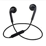 S6 En el oido Con Cable Auriculares Electroestático El plastico Deporte y Fitness Auricular Con Micrófono Auriculares