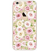 Funda Para Apple iPhone X iPhone 8 Ultrafina Transparente Diseños Funda Trasera Flor Suave TPU para iPhone X iPhone 8 Plus iPhone 8