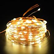 kobbertråd fairy streng lys 50ft 100led 2 moduser starry stripe lys vanntett ip65 soldekorasjon halloween hage utendørs hjem soverom ferie
