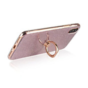 Funda Para Apple iPhone X iPhone 8 iPhone 8 Plus Soporte para Anillo Funda Trasera Brillante Suave TPU para iPhone X iPhone 8 Plus iPhone
