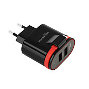 Cargador Portátil Cargador USB del teléfono Enchufe USA Enchufe UE 2 Puertos USB 3.1A AC 100V-240V Para Teléfono Móvil