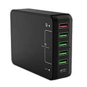 USB-lader QC61 6 Desk Charger Station Med Quick Charge 3.0 Us Plugg Eu Plugg UK Plug AU Plug Ladereadapter