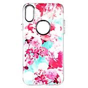 Etui Til Apple iPhone X iPhone 8 iPhone 8 Plus Støtsikker Bakdeksel Blomsternål i krystall Myk TPU til iPhone X iPhone 8 Plus iPhone 8