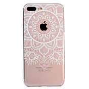 Funda Para Apple iPhone X iPhone 8 Plus Diseños Funda Trasera Mandala Impresión de encaje Suave TPU para iPhone X iPhone 8 Plus iPhone 8
