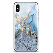 Funda Para Apple iPhone X iPhone 8 Plus Diseños Funda Trasera Mármol Suave TPU para iPhone X iPhone 8 Plus iPhone 8 iPhone 7 Plus iPhone