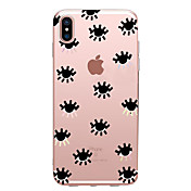 Etui Til Apple iPhone X iPhone 8 iPhone 6 iPhone 7 Plus iPhone 7 Ultratynn Mønster Bakdeksel Flise Myk TPU til iPhone X iPhone 8 Plus