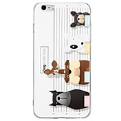 Funda Para Apple iPhone 8 / iPhone 8 Plus / iPhone 7 En Relieve / Diseños Funda Trasera Gato / Animal / Caricatura Suave TPU para iPhone 8 Plus / iPhone 8 / iPhone 7 Plus