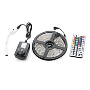 300 LED RGB Control remoto Cortable Regulable Impermeable Conectable Adecuadas para Vehículos Auto-Adhesivas Color variable AC 100-240V V