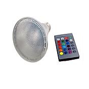 1set 10W 450-600lm PAR30 Voksende lyspære 9 LED perler Integrert LED Fjernstyrt LED Lys RGB 85-265V