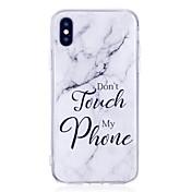 Etui Til Apple iPhone X iPhone 8 Plus IMD Bakdeksel Marmor Myk TPU til iPhone X iPhone 8 Plus iPhone 8 iPhone 7 Plus iPhone 7 iPhone 6s