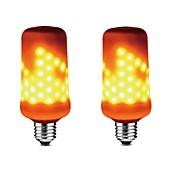 2 개 5W 350-450 lm E27 LED 콘 조명 99 LED가 SMD 2835 밝기조절가능 화염 효과 장식 따뜻한 화이트 AC 85-265V