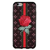 Funda Para Apple iPhone 6 iPhone 6 Plus iPhone 7 Plus iPhone 7 En Relieve Funda Trasera Flor Suave TPU para iPhone 7 Plus iPhone 7 iPhone