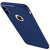 Para iPhone X iPhone 8 iPhone 7 iPhone 7 Plus iPhone 6 Carcasa Funda Congelada Cubierta Trasera Funda Color sólido Suave Silicona para