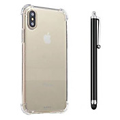 Etui Til Apple iPhone X iPhone 8 iPhone 8 Plus Støtsikker Gjennomsiktig Bakdeksel Helfarge Myk TPU til iPhone X iPhone 8 Plus iPhone 8