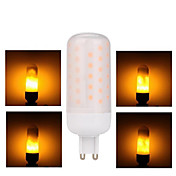1pc 3W 68lm G9 LED-lamper med G-sokkel 68 LED perler SMD 2835 Gul 85-265V