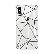 Etui Til Apple iPhone X iPhone 8 Plus Gjennomsiktig Mønster Bakdeksel Geometrisk mønster Myk TPU til iPhone X iPhone 8 Plus iPhone 8