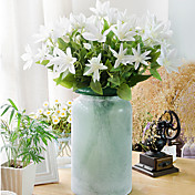 Flores Artificiales 1 Rama Estilo Pastoral Loto Flor de Mesa