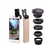 Mobiltelefon Lens Fisheyelinse / Vidvinkelobjektiv / Makrolinse Aluminum Alloy 2X 0.01m 30 Høy definisjon