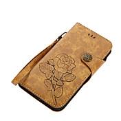 Funda Para Motorola G5 Plus E4 Plus Soporte de Coche Cartera con Soporte Flip Magnética Diseños Funda de Cuerpo Entero Flor Dura Cuero de