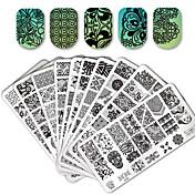 10/20 pcs Nail Stamping Tool Mal Blomst / Dyr Nail Art Design Stilig Design Stilfull / Blonde Fest & Aften / Daglig / Metall