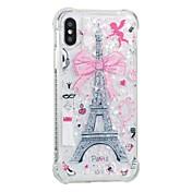 Funda Para Apple iPhone X iPhone 8 Antigolpes Líquido Diseños Funda Trasera Torre Eiffel Suave TPU para iPhone X iPhone 8 Plus iPhone 8