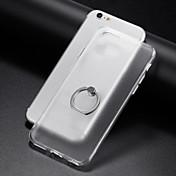 Funda Para Apple iPhone 6 iPhone 7 Plus iPhone 7 Soporte para Anillo Transparente Funda Trasera Color sólido Suave TPU para iPhone 8 Plus