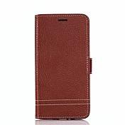 Etui Til Motorola E4 E4 Plus Kortholder Lommebok med stativ Flipp Heldekkende etui Helfarge Hard PU Leather til Moto Z2 play Moto X4 Moto
